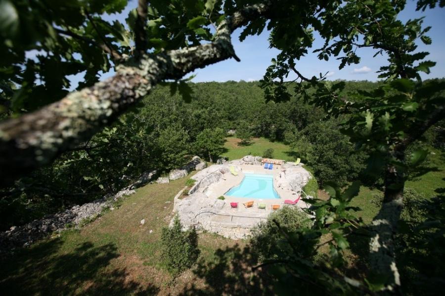 Domaine proven al 2 50 pers gite de groupe rhone for Location maison piscine ardeche